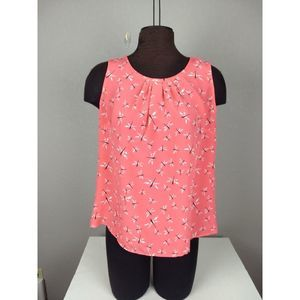 Christopher & Banks sleeveless dragonfly top M